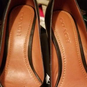 59be0d8937 Coach Shoes   Black Bead Chain Pumps Gorgeous Size 10   Poshmark